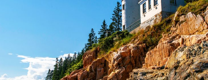 Lighthouse on one of the islands off of Maine