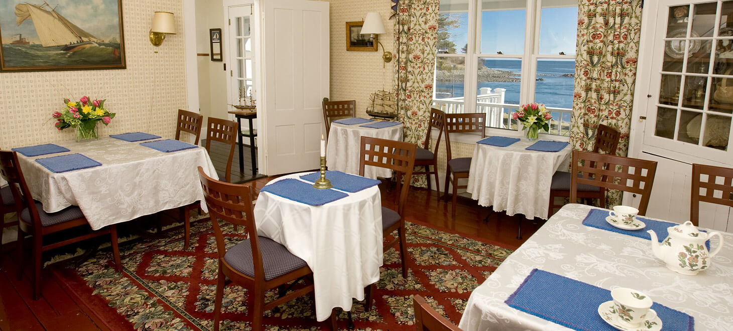 Dining room at the Dockside Guest House