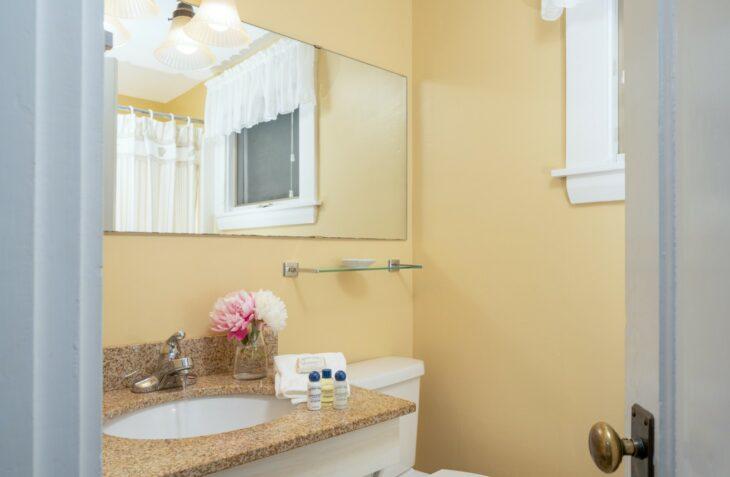 Room 105 bathroom at our luxury inn in York Maine