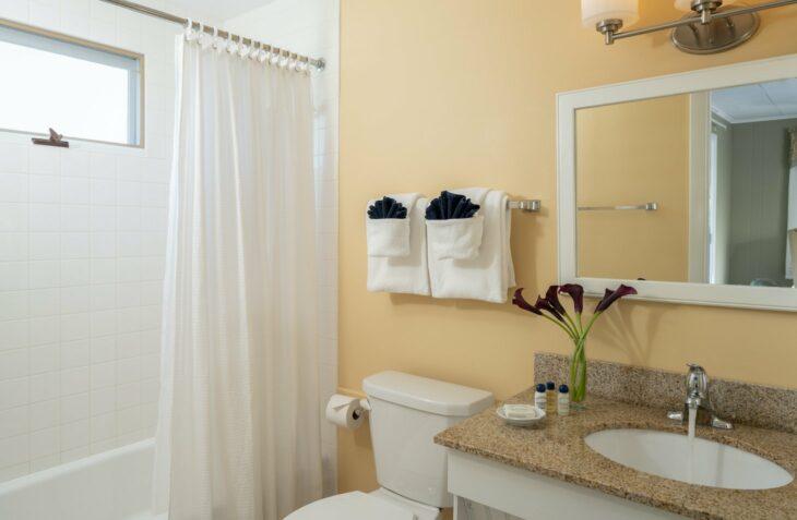 Room 115 bathroom at our romantic Maine inn