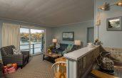 Room 107 living room and kitchenette