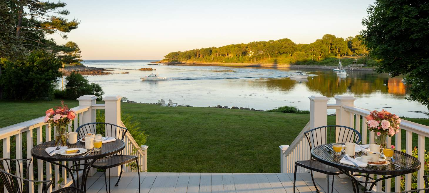 Waterfront Breakfast at our York, Maine Inn