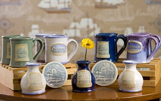 Mugs & Vases with Dockside Guest Quarters Logo
