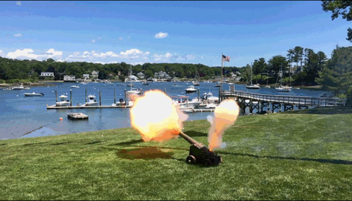 fourth of july cannon shoot at dockside guest quarters